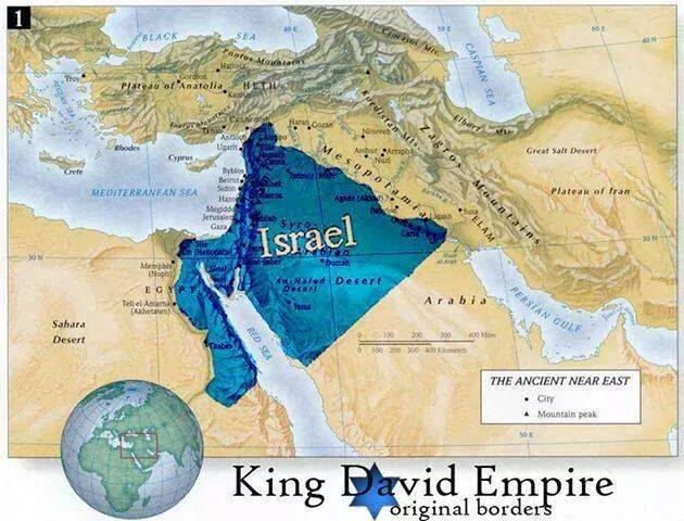 Map of the Promised Land given to the people of Israel.