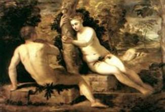 Adam and Eve painting.