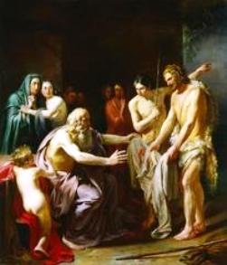 Joseph's bloody coat painting.
